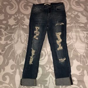 Denim - Distressed denim jeans